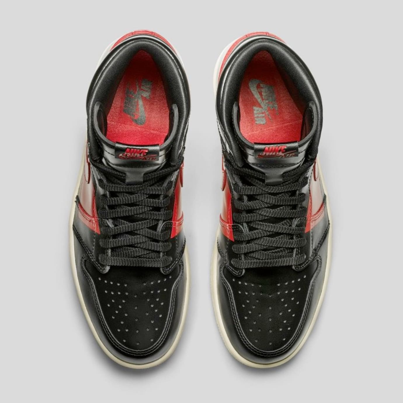 2bb7b4eb93d09b Image via  J23app · Air Jordan 1 High OG  Couture  Black Gym Red-Musline  BQ6682-