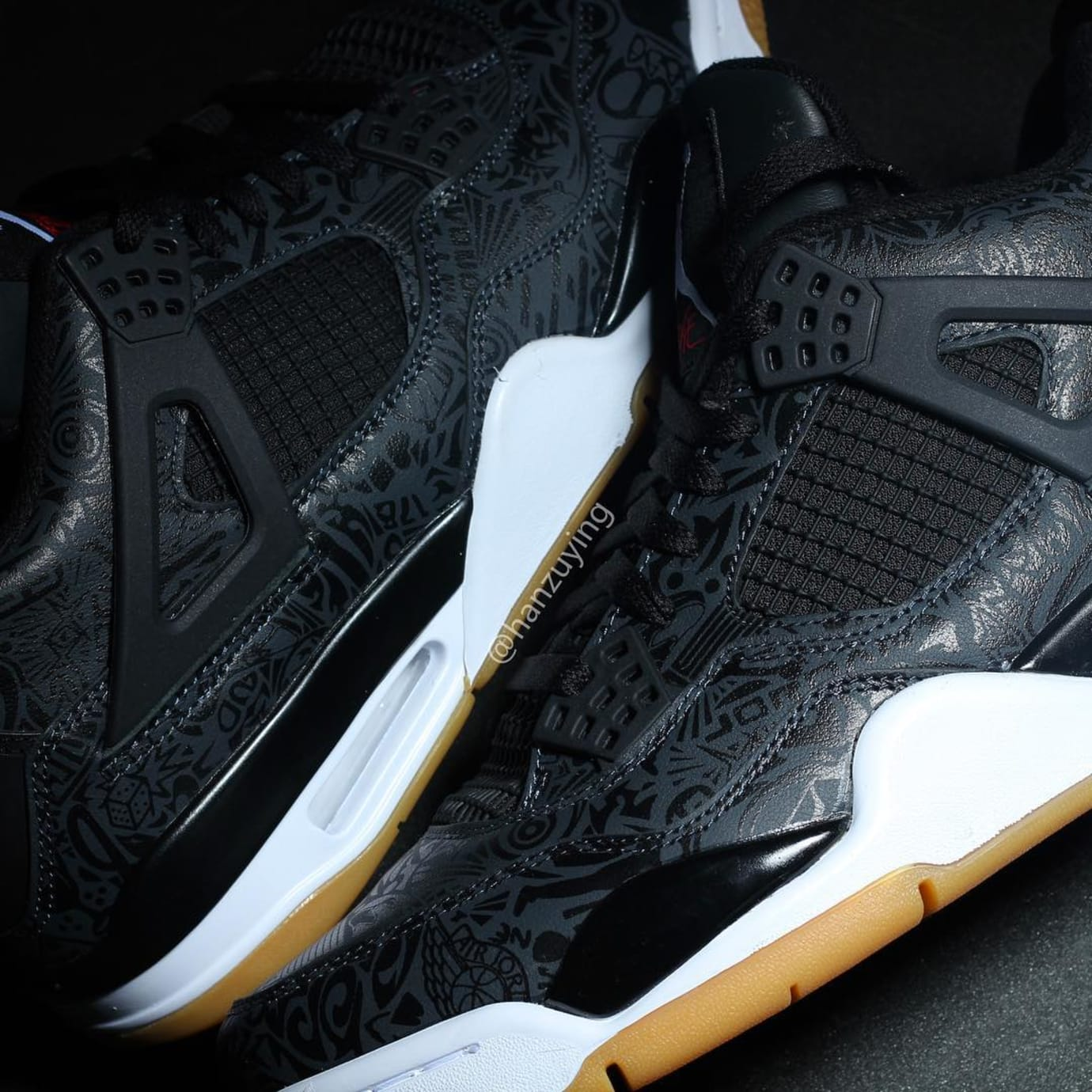 7d33c08bdd6763 Air Jordan 4 SE Retro  Laser  Black White-Gum Light Brown Release ...