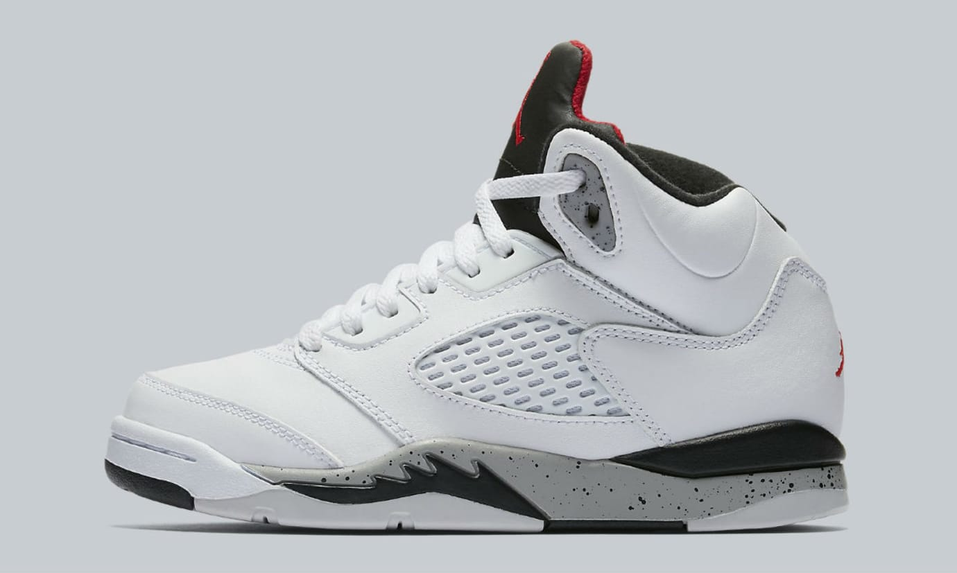 Air Jordan 5 White Cement Release Date Preschool 440889-104