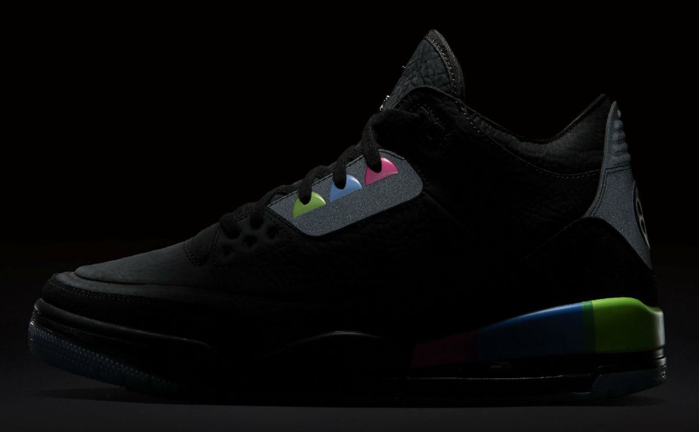 Air Jordan 3 III Quai 54 Release Date AT9195-001 3M