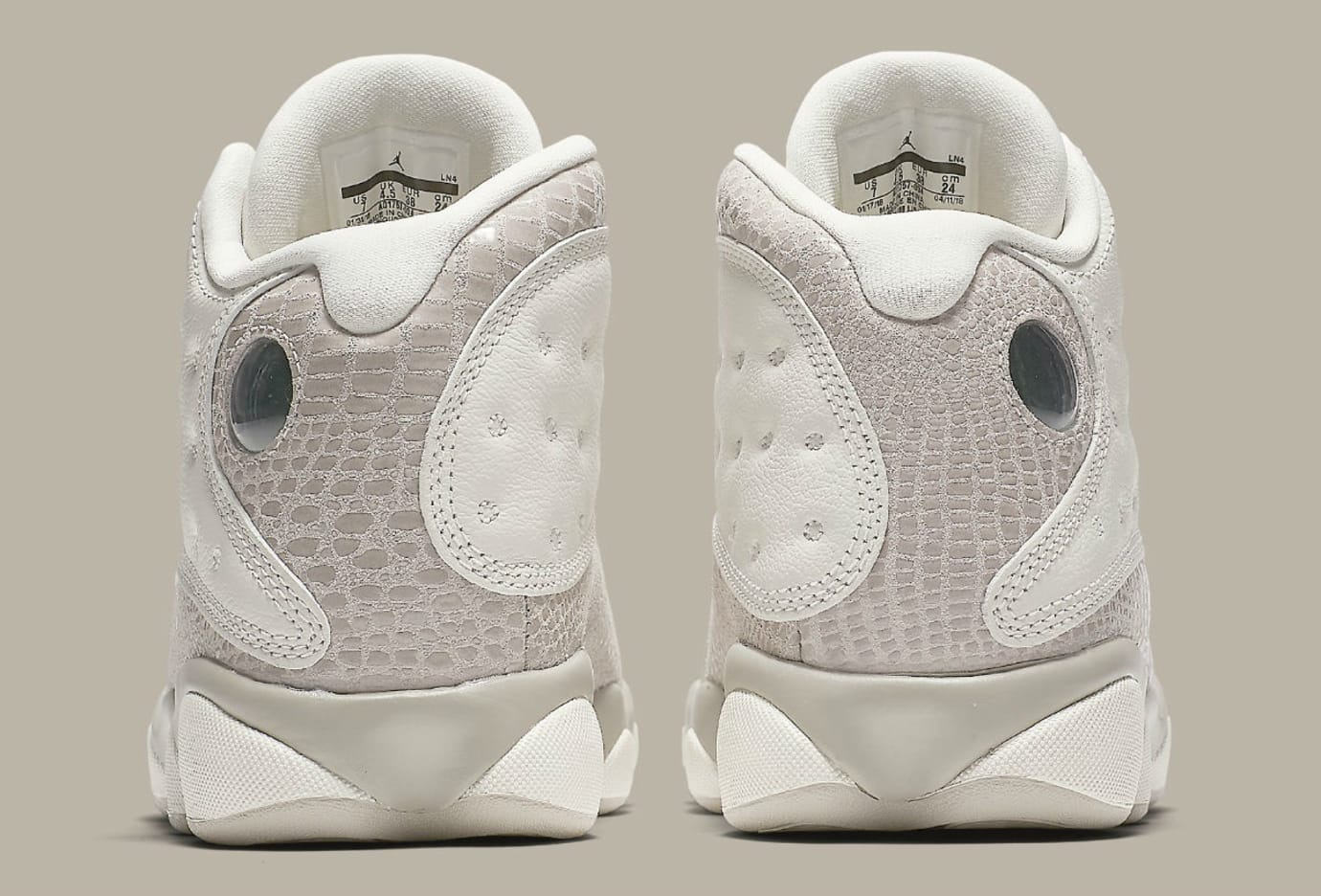 wholesale dealer d114e 30b93 Image via Nike Air Jordan 13 XIII Women s Phantom Moon Particle Release  Date AQ1757-004 Heel