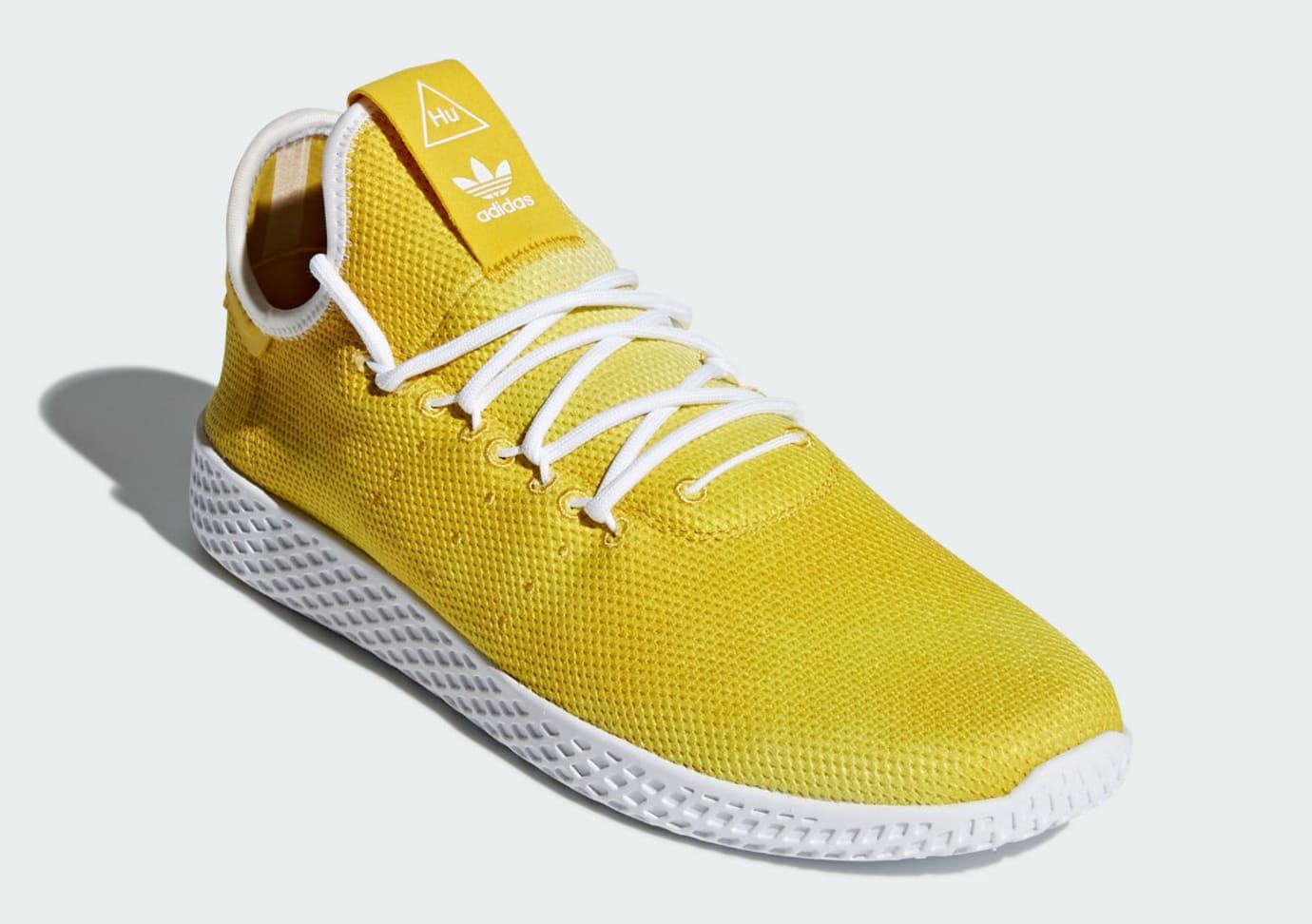 c2cfa1726499b Pharrell x Adidas Tennis Hu Holi Bright Yellow Release Date DA9617 Front