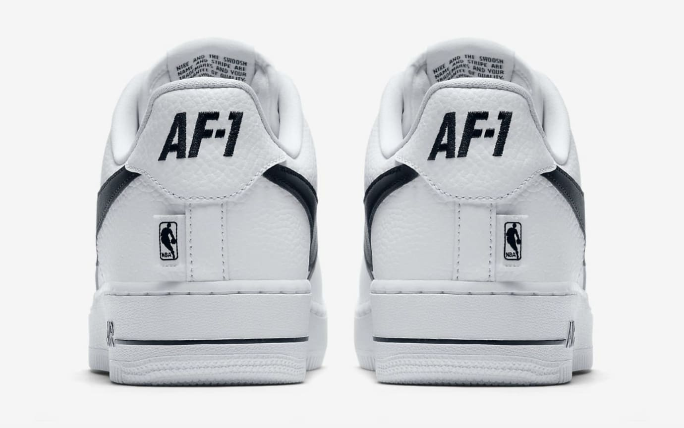 Nike Air Force 1 Low NBA Statement Game White/Black Release Date Heel 823511-103