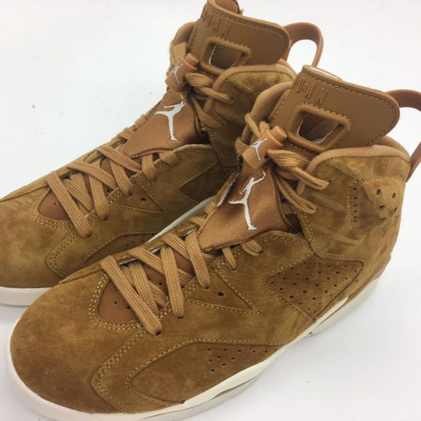 7070f262ae3217 Air Jordan 6 Golden Harvest Wheat Release Date 384664-705