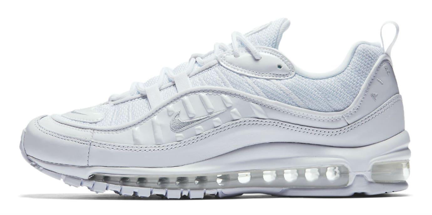 74f2735369b3 Nike Air Max 98 White Pure Platinum Release Date 640744-106 Profile