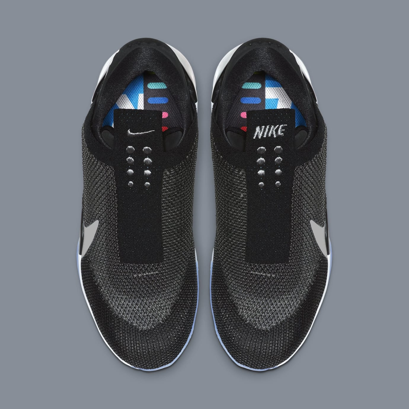 36e9b9744a25 Image via Nike Nike Adapt BB  Black White Pure Platinum  AO2582-001 (Top