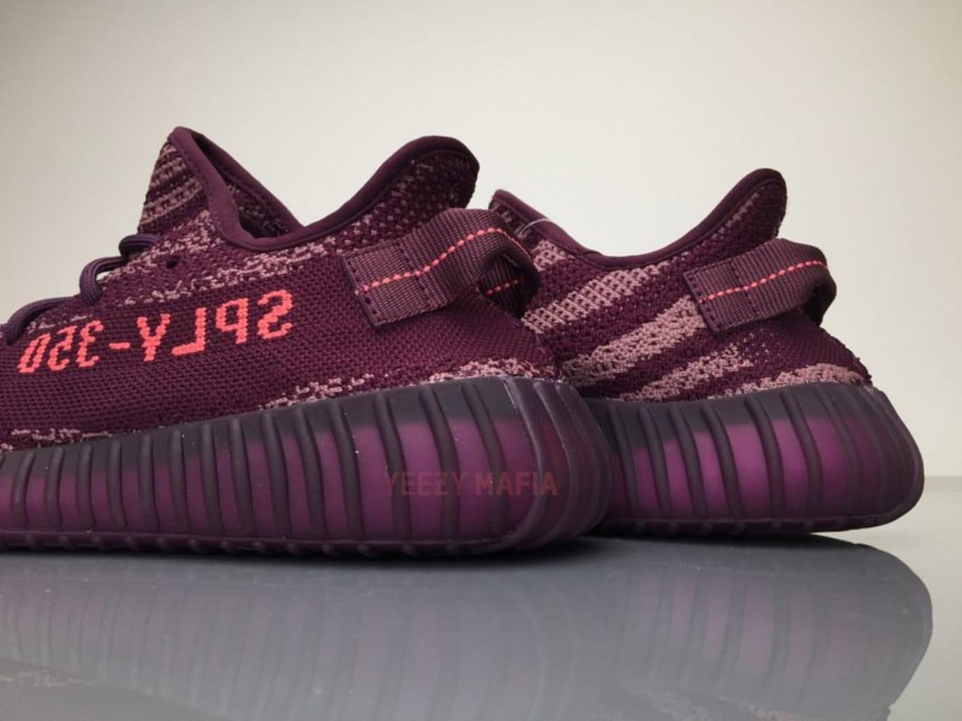 e9f55de73d7 Image via Yeezy Mafia on Twitter · Adidas Yeezy Boost 350 V2 Red Night  Chalk Heel