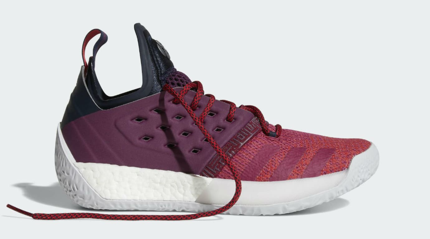 Adidas Harden Vol. 2 Maroon Release Date AH2124 Laces
