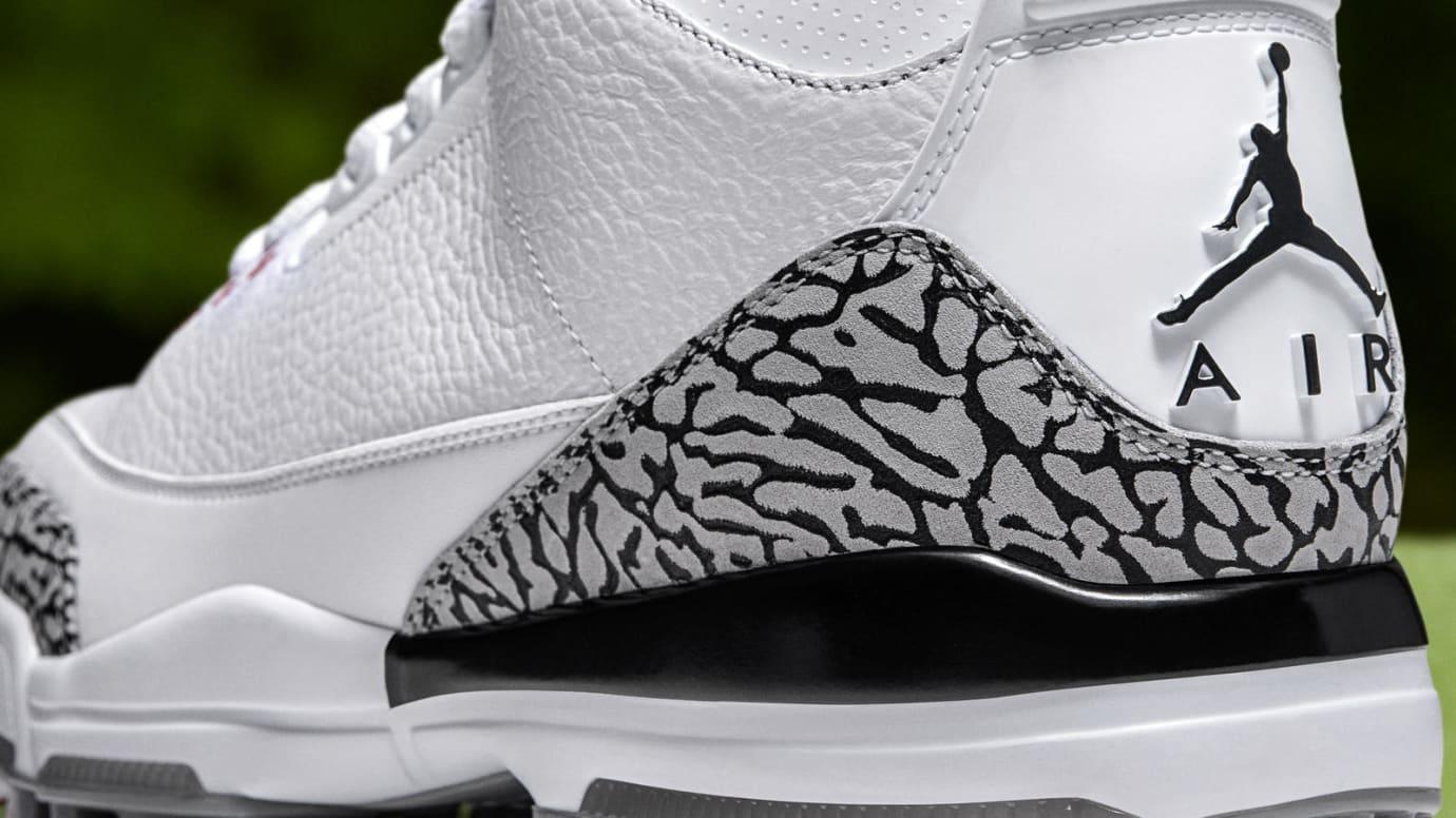 Air Jordan 3 Golf 'White Cement' (Heel)