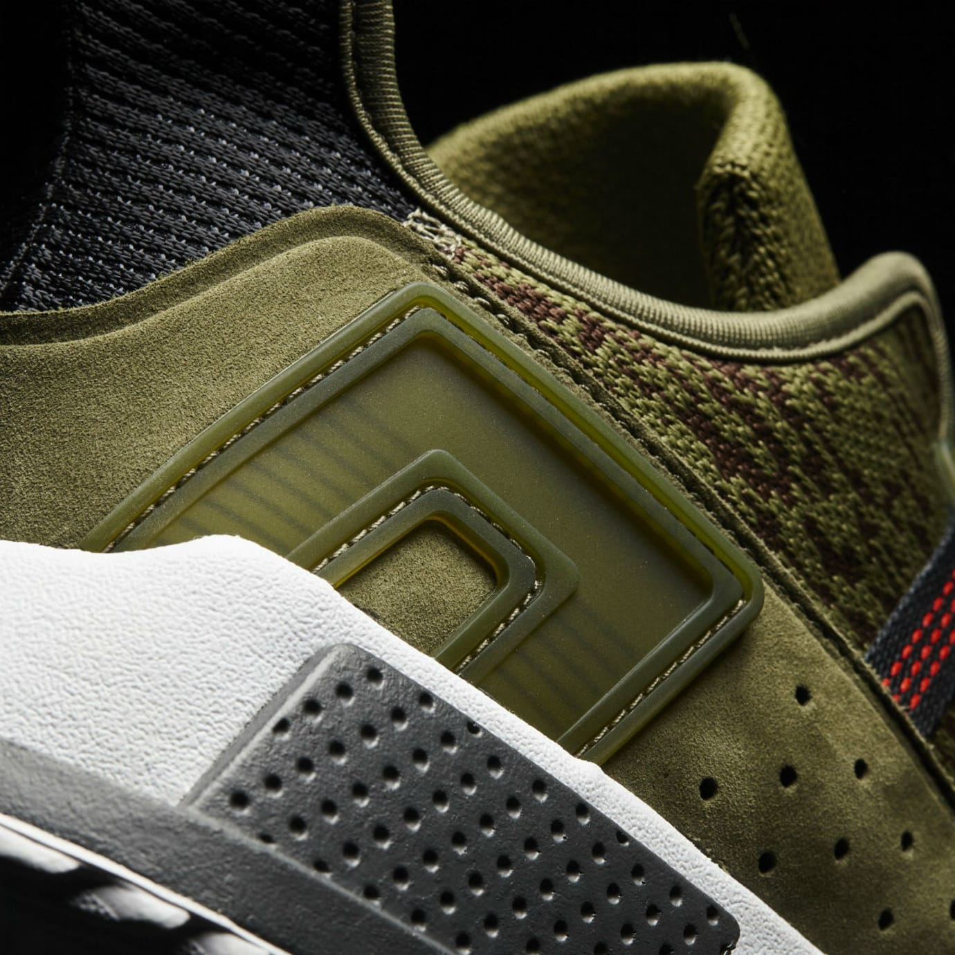 Adidas EQT Cushion ADV Olive Camo Release Date AC7722 Heel