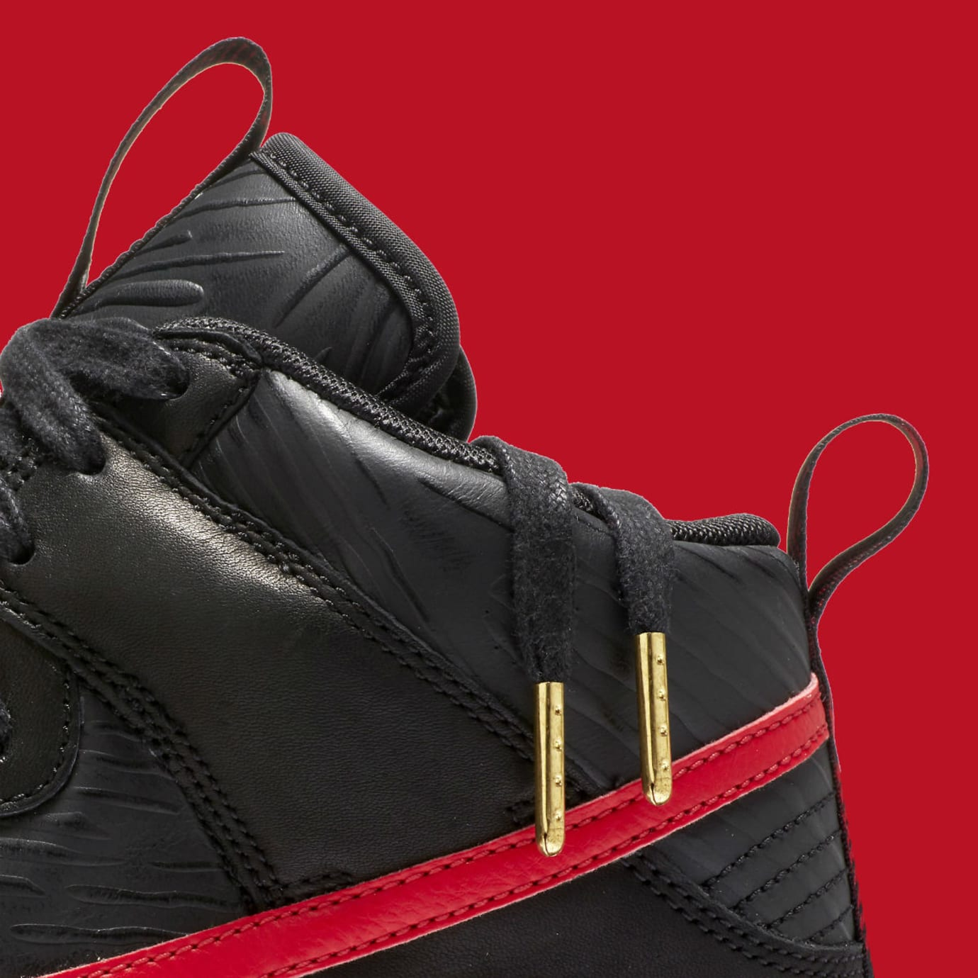 Nike N7 Dunk High Black Red Release Date Laces AA1126-001