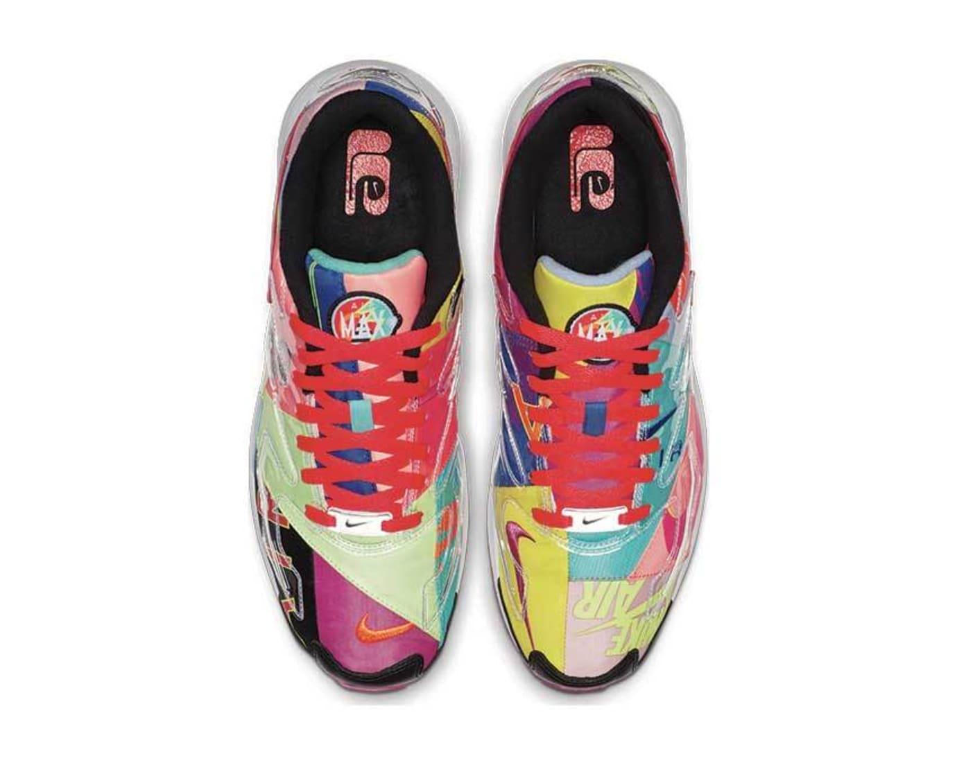 Atmos x Nike Air Max2 Light 'Black/Bright Crimson' BV7406-001 (Top)