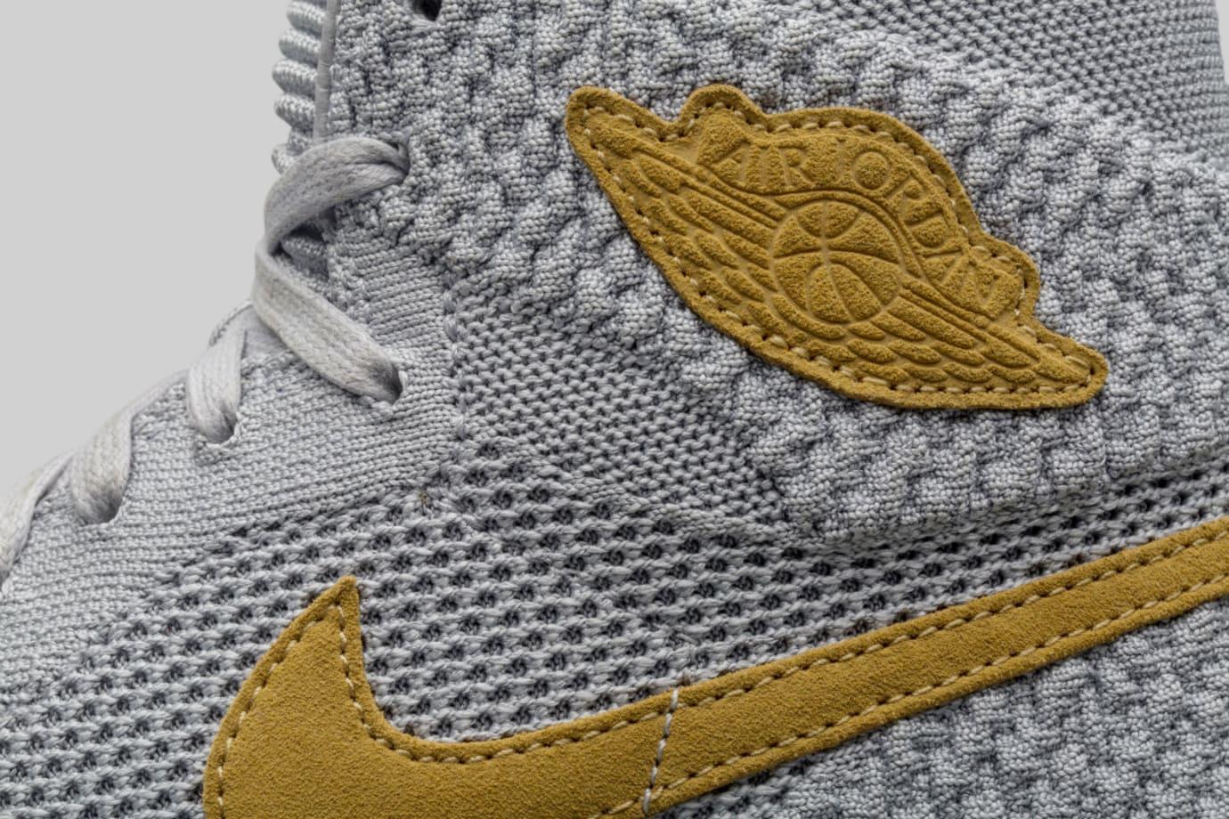 Air Jordan 1 Flyknit Wolf Grey Release Date Collar 919704-025