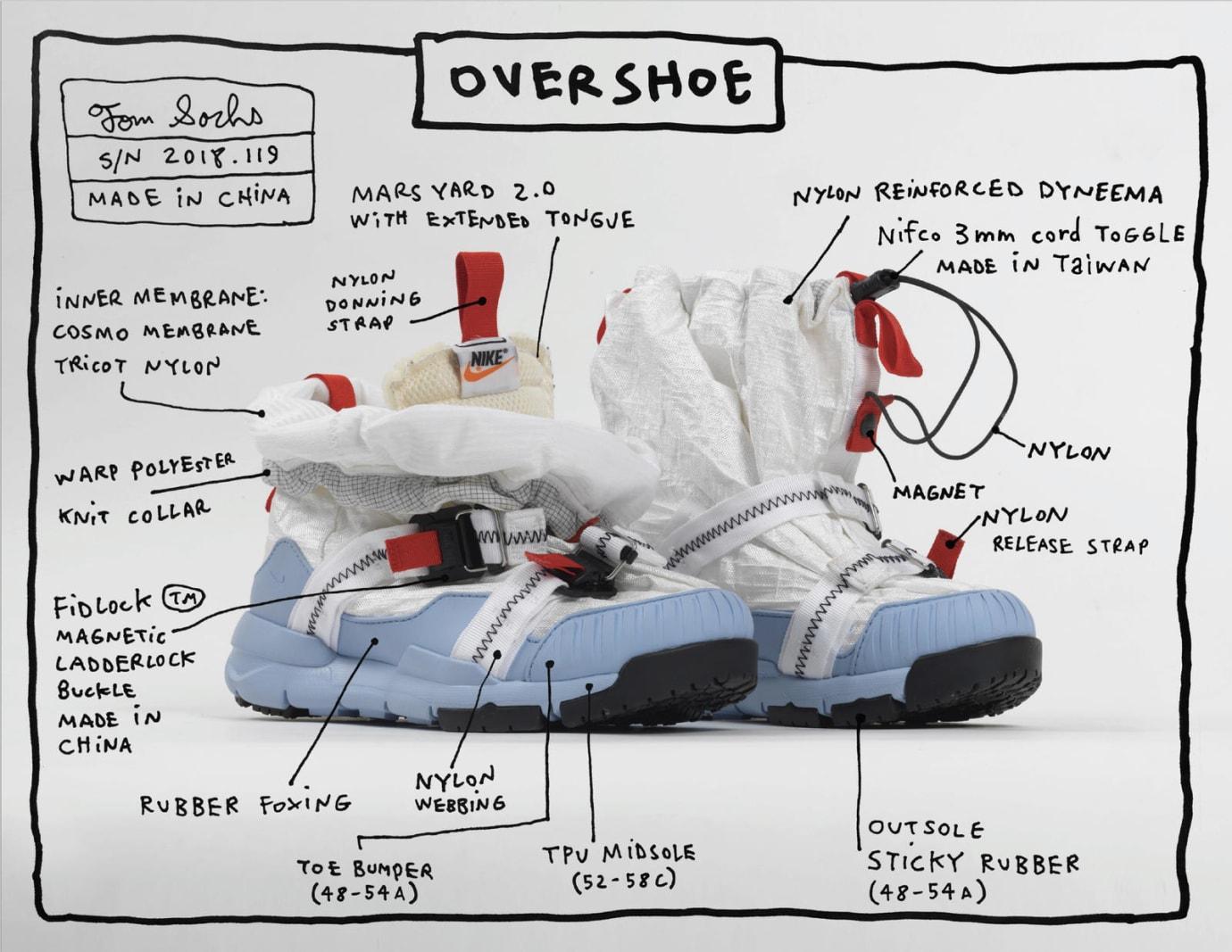 Tom Sachs x Nike Mars Yard Overshoe Specs