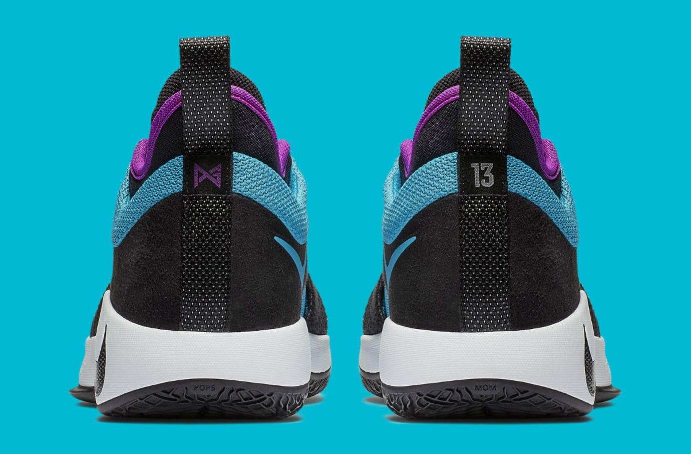 fb506b08a875 Image via Nike Nike PG 2 South Beach Blue Lagoon Release Date AJ2039-402  Heel