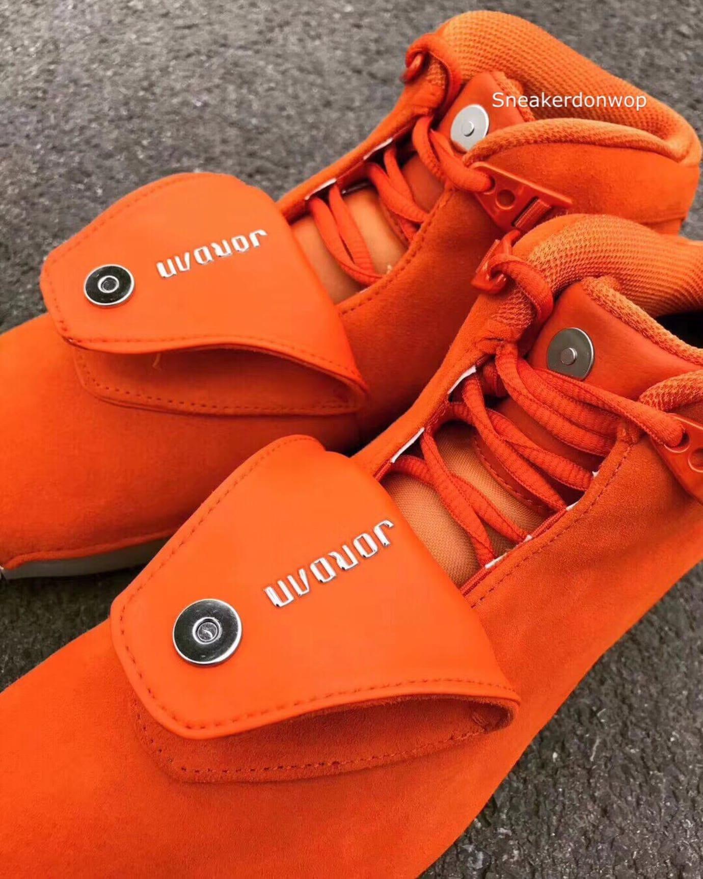 Air Jordan 18 Orange Release Date Tongue