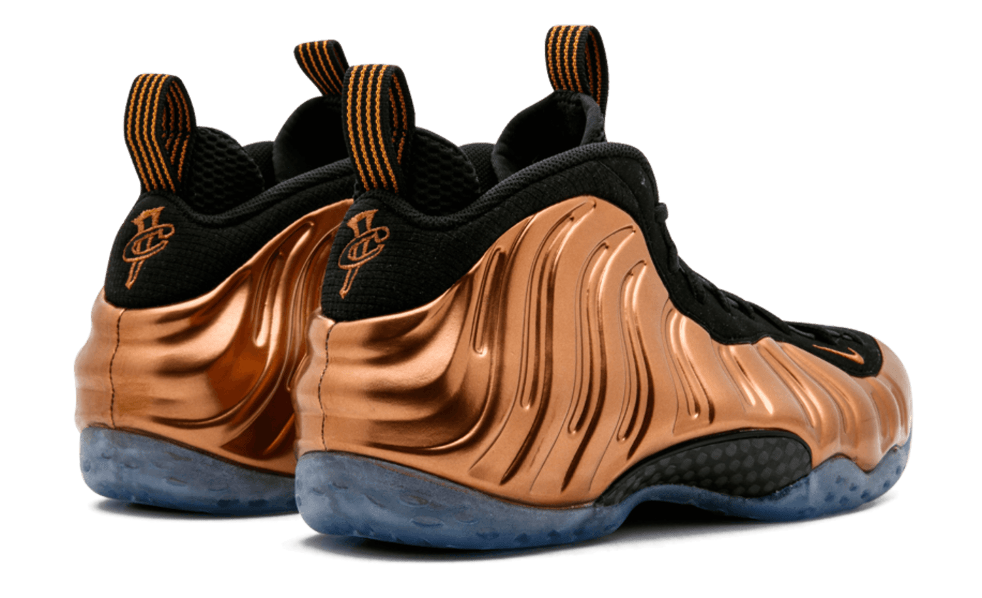 21d03410f88e4 Image via Stadium Goods · Copper Nike Air Foamposite One Heel