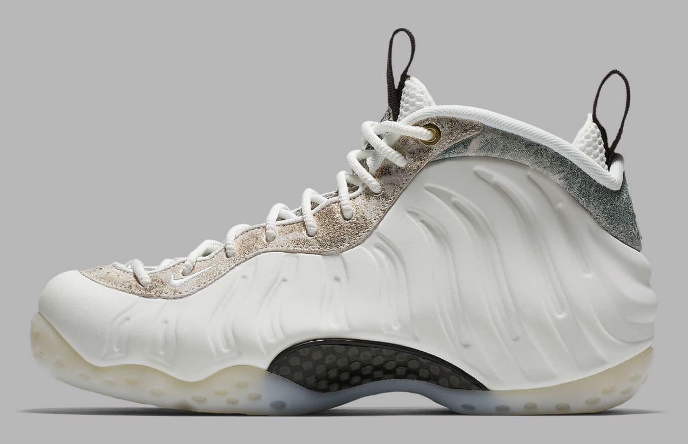uk availability 53d42 ac3fc Nike Air Foamposite One Women s Summit White Oil Grey Rainforest Release  Date AA3963-101 Profile