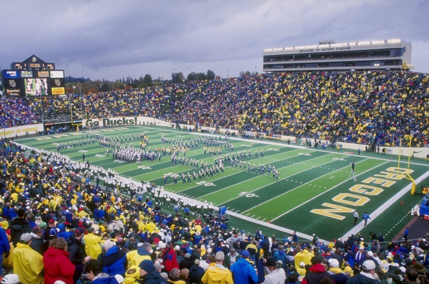 University of Oregon Autzen Stadium