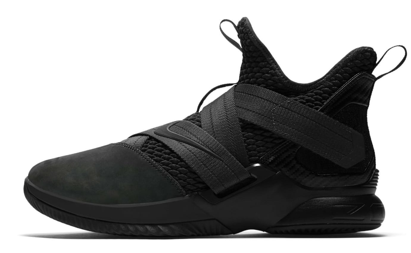 Nike LeBron Soldier 12 XII Zero Dark Thirty Triple Black Release Date AO4054-002 Profile