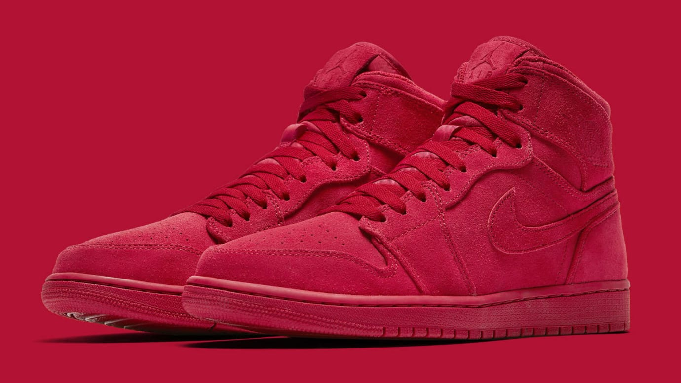 dce4fe9cc25d Air Jordan 1 High Red Suede Release Date Main 332550-603