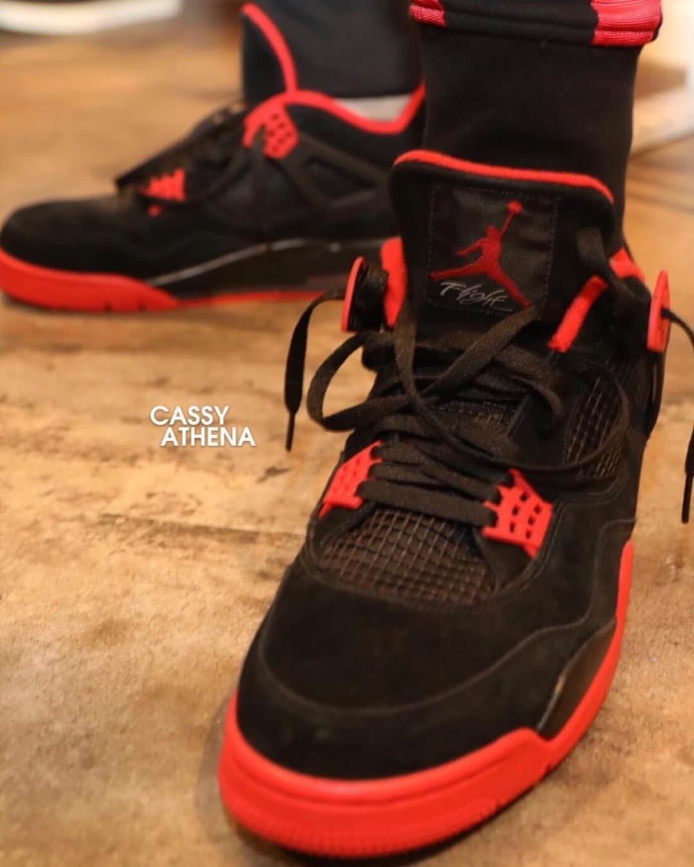 Chris Paul Air Jordan 4 Black Red Left