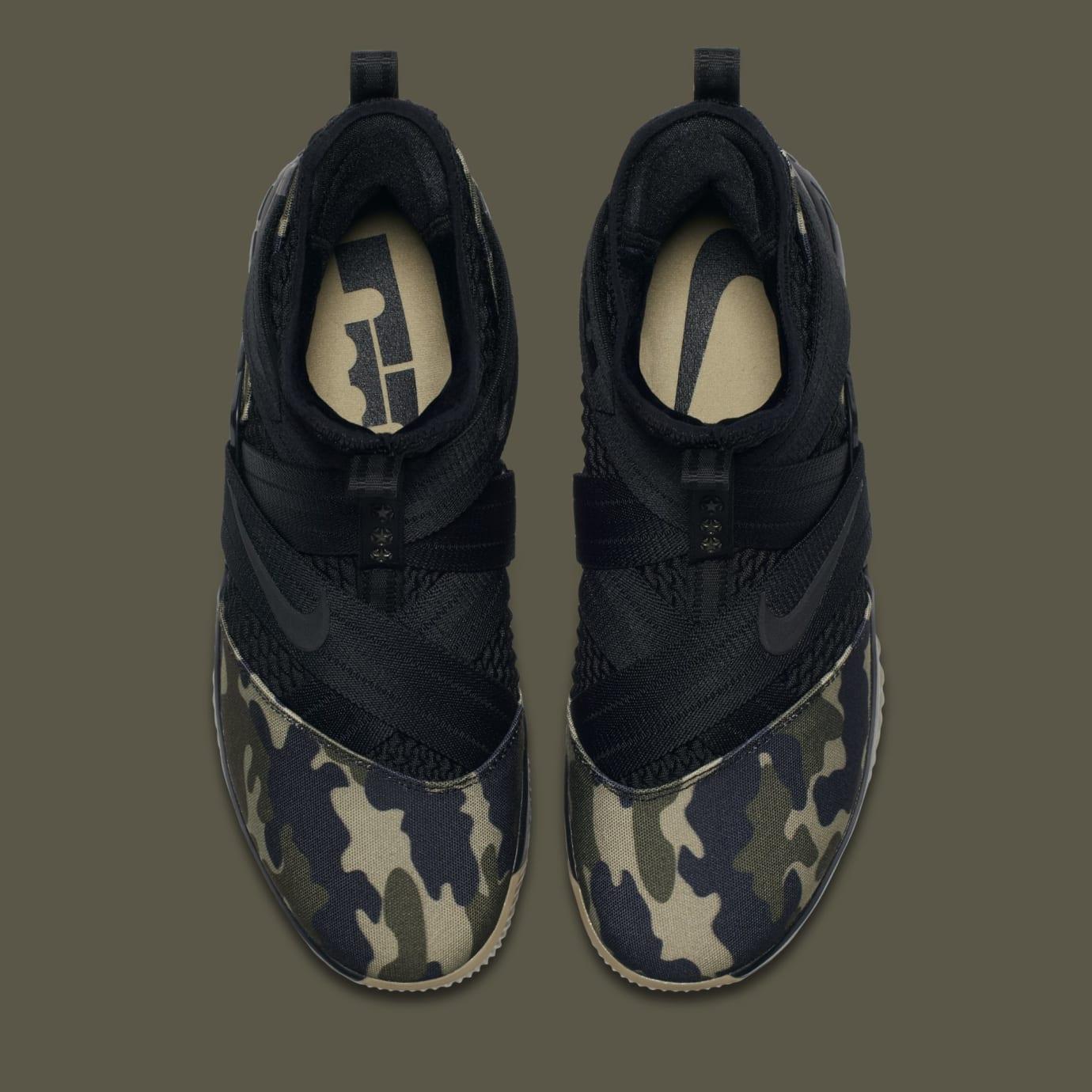 82183c1e2215 Image via Nike Nike LeBron Solider 12 SFG  Hazel Rush  AO4054-001 (Top)