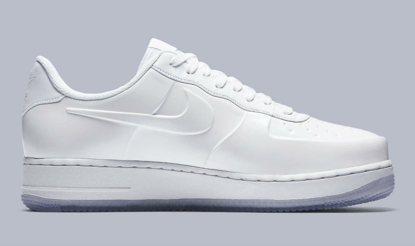 premium selection 0db61 ba2a7 Image via Nike Nike Air Force 1 Foamposite Pro Cup White Release Date  AJ3664-100 Medial