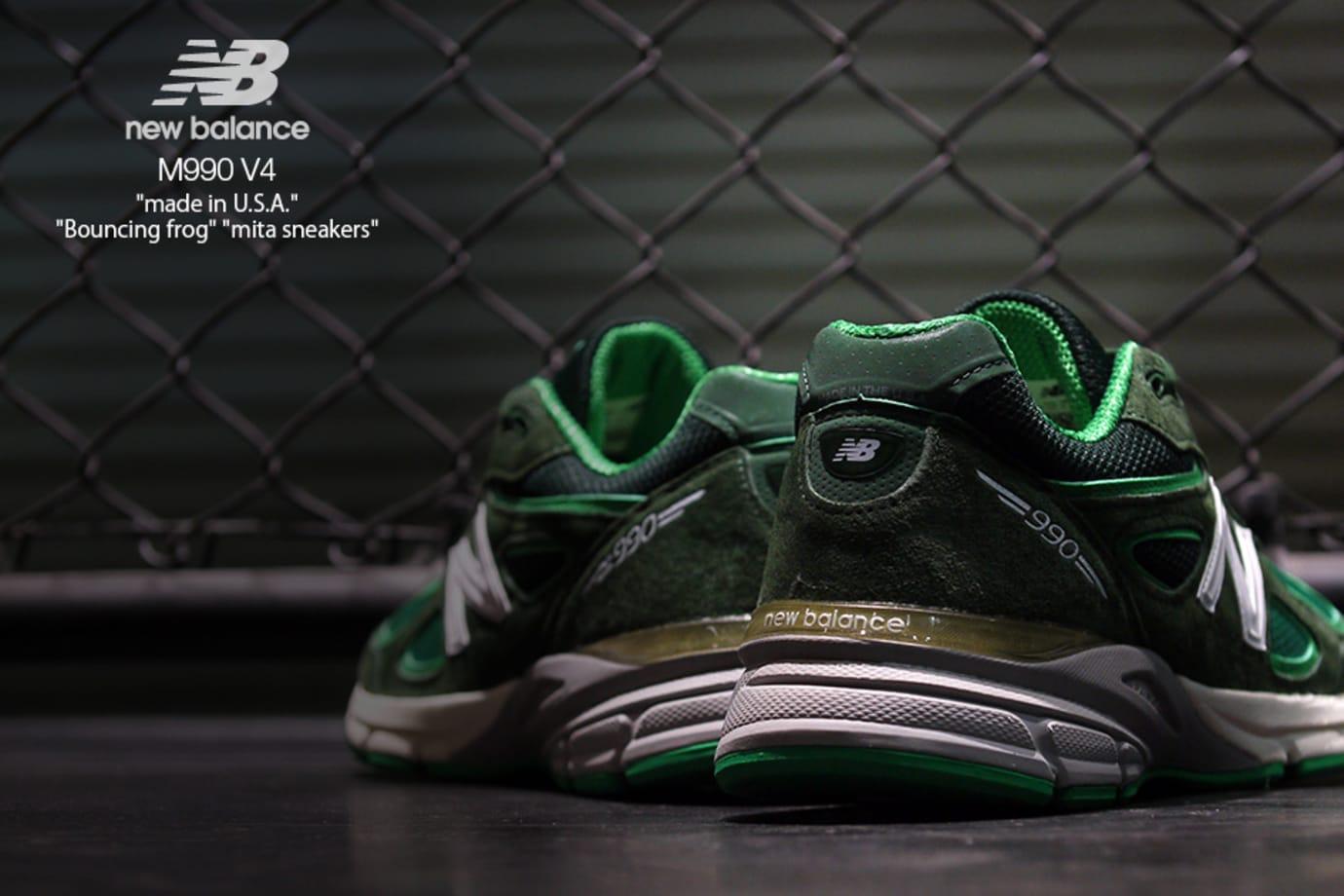 Mita Sneakers x New Balance 990v4 'Bouncing Frog' (Heels)