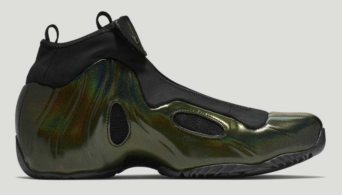 dbd27beec5f Image via Nike Nike Air Flightposite Legion Green Release Date AO9378-300  Medial