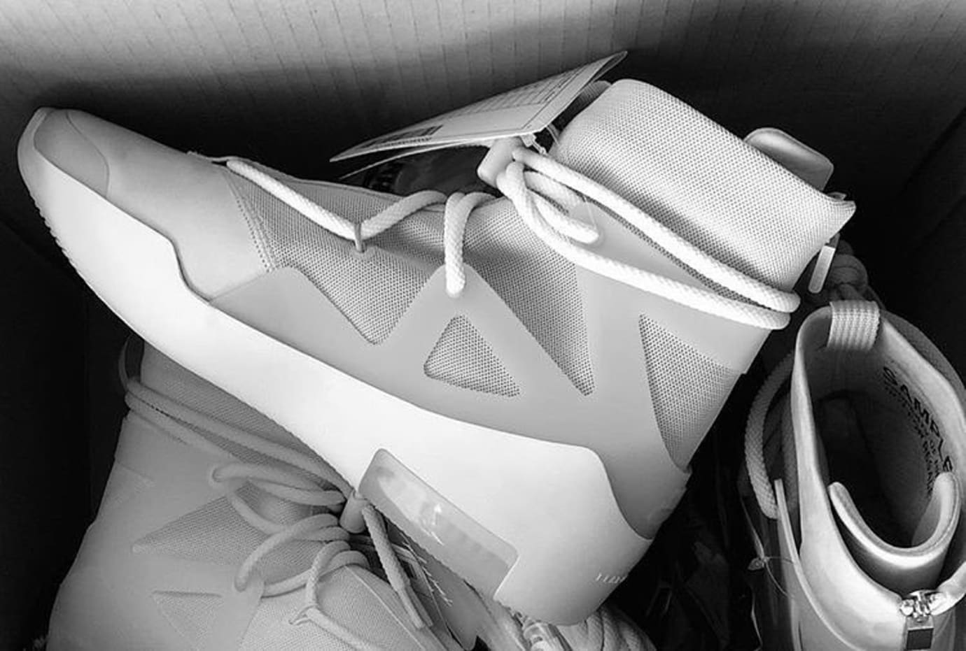 Fear of God x Nike Air FOG 'Light Bone/Black'