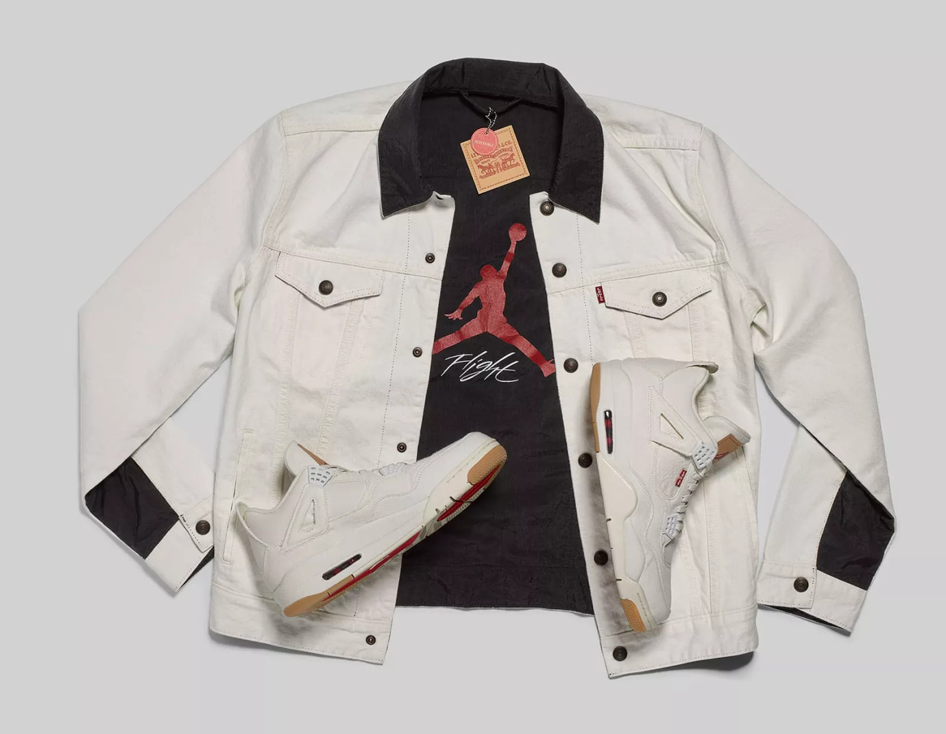 Levi's x Air Jordan 4 'White' AO2571-100 (Jacket)