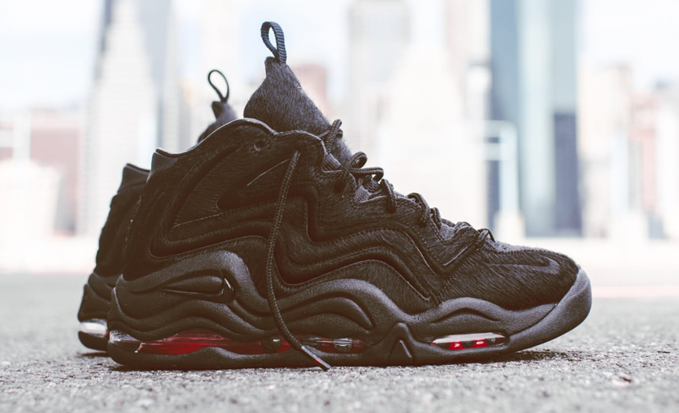 Kith Nike Pippen 1 Black Red Pony Hair 1