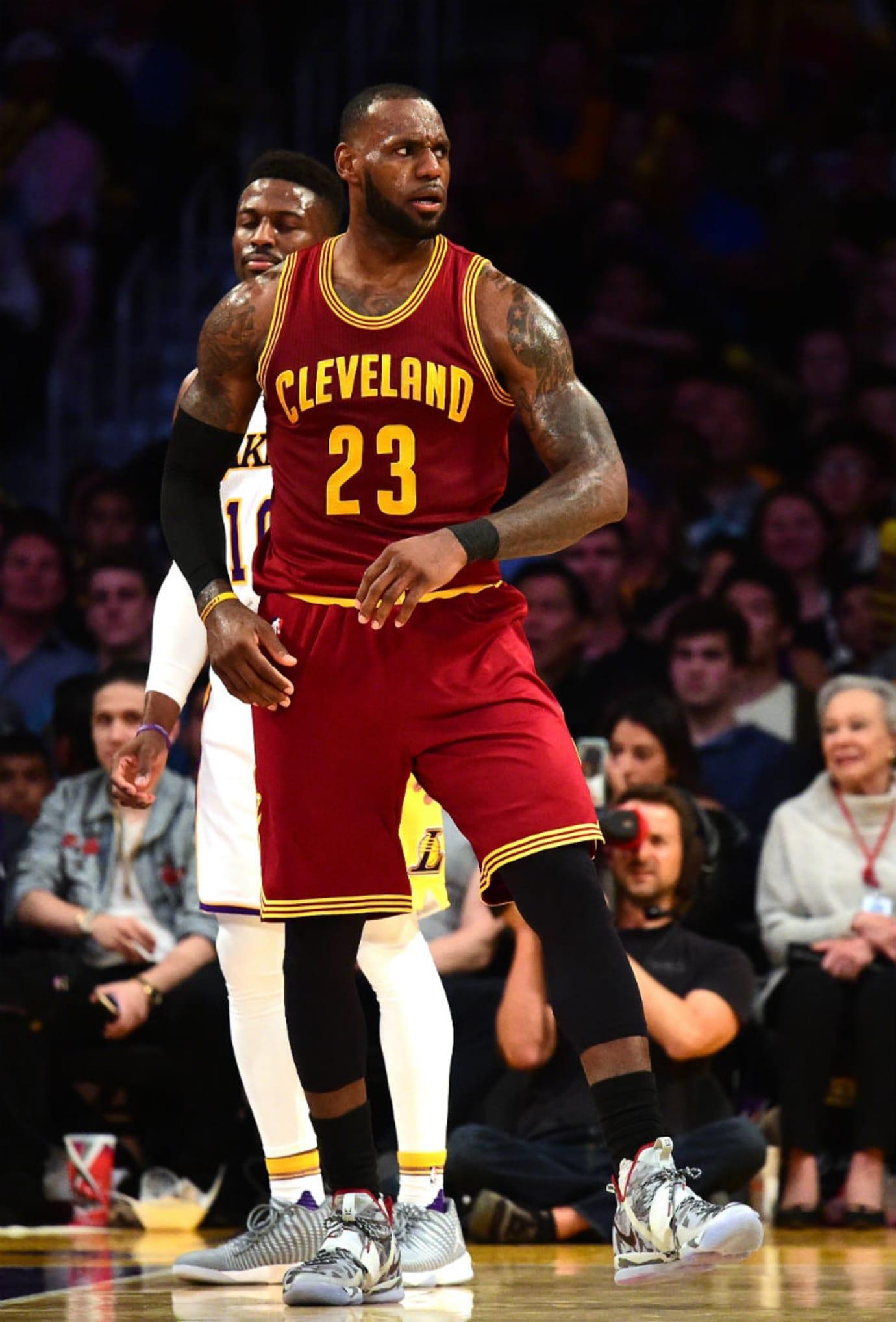 LeBron James Nike LeBron 14 White Camo