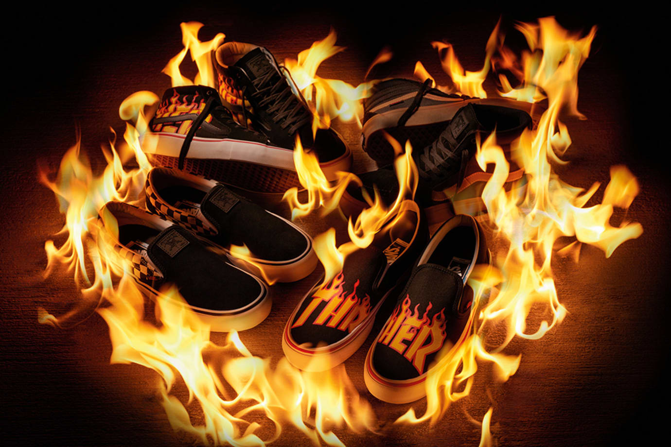 Vans Thrasher Flame Sneakers