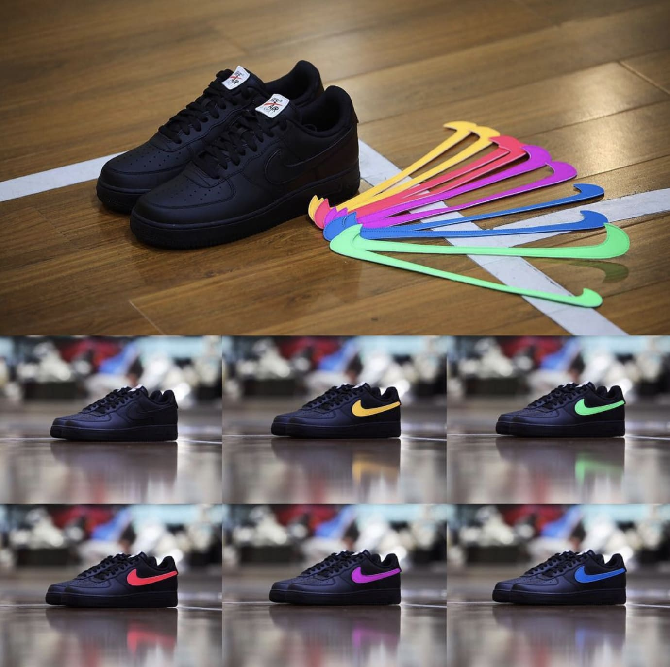 Nike Air Force 1 'All Star/Black' (Swooshes)