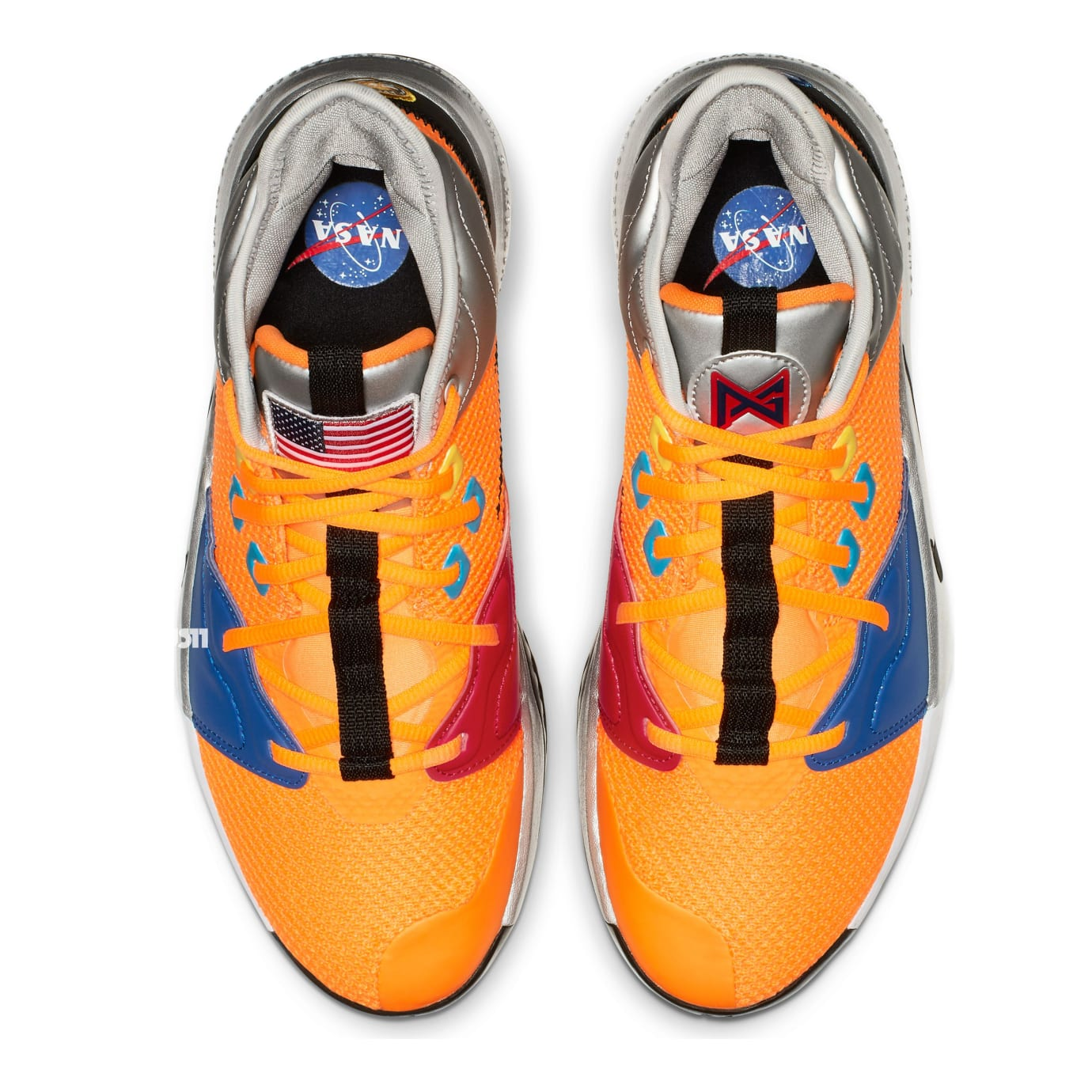 Nike PG 3 'NASA' Total Orange/Black-Metallic Silver (Top)