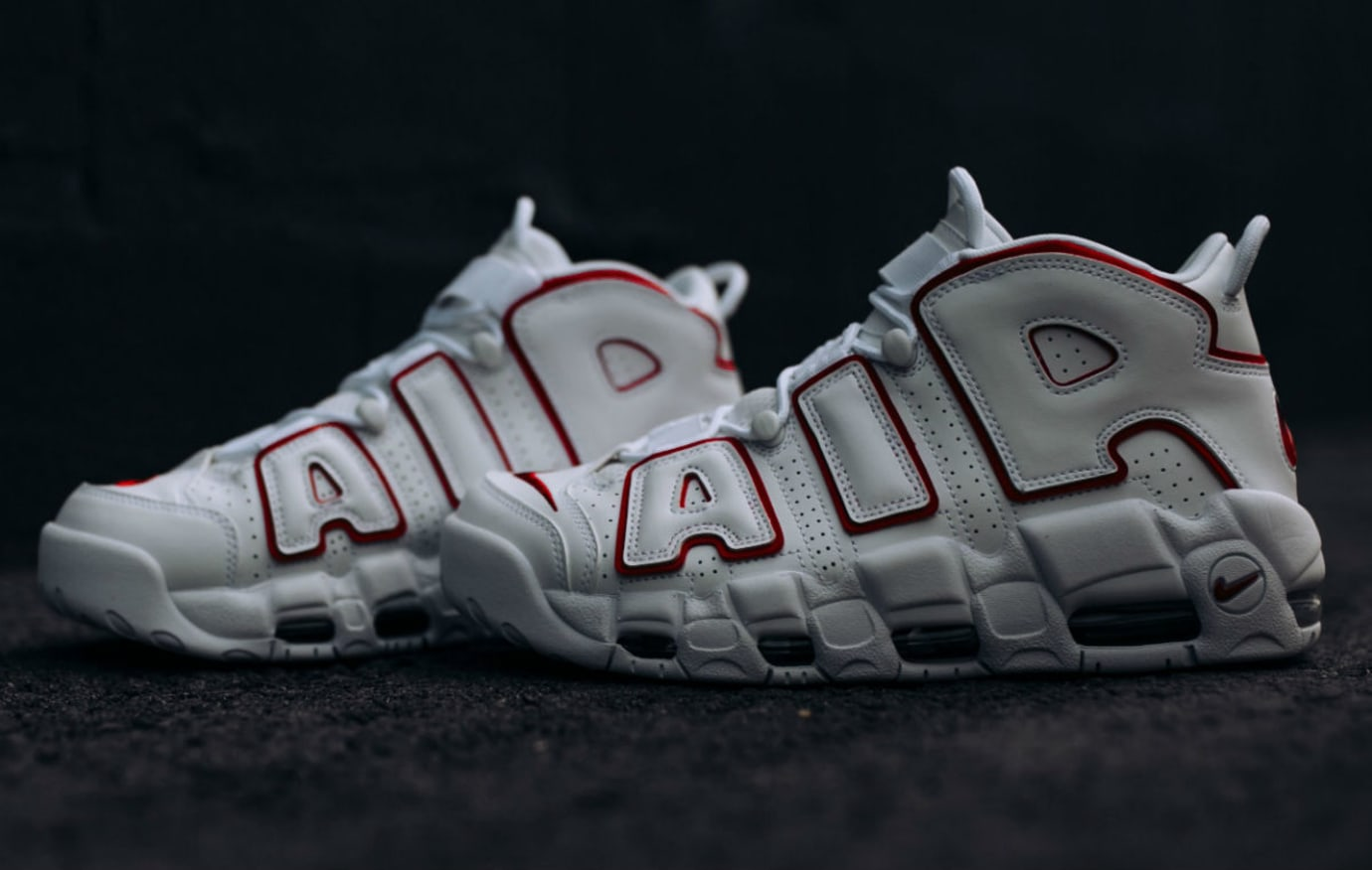huge discount 63624 f98d7 Nike Air More Uptempo Varsity Red Release Date 921948-102 Left