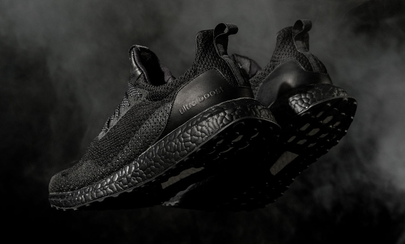 Haven Adidas Ultra Boost Triple Black Heel