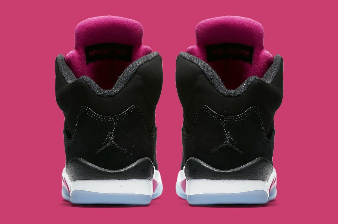 8ad4de24def7 Air Jordan 5 GS Deadly Pink Release Date Heel 440892-029