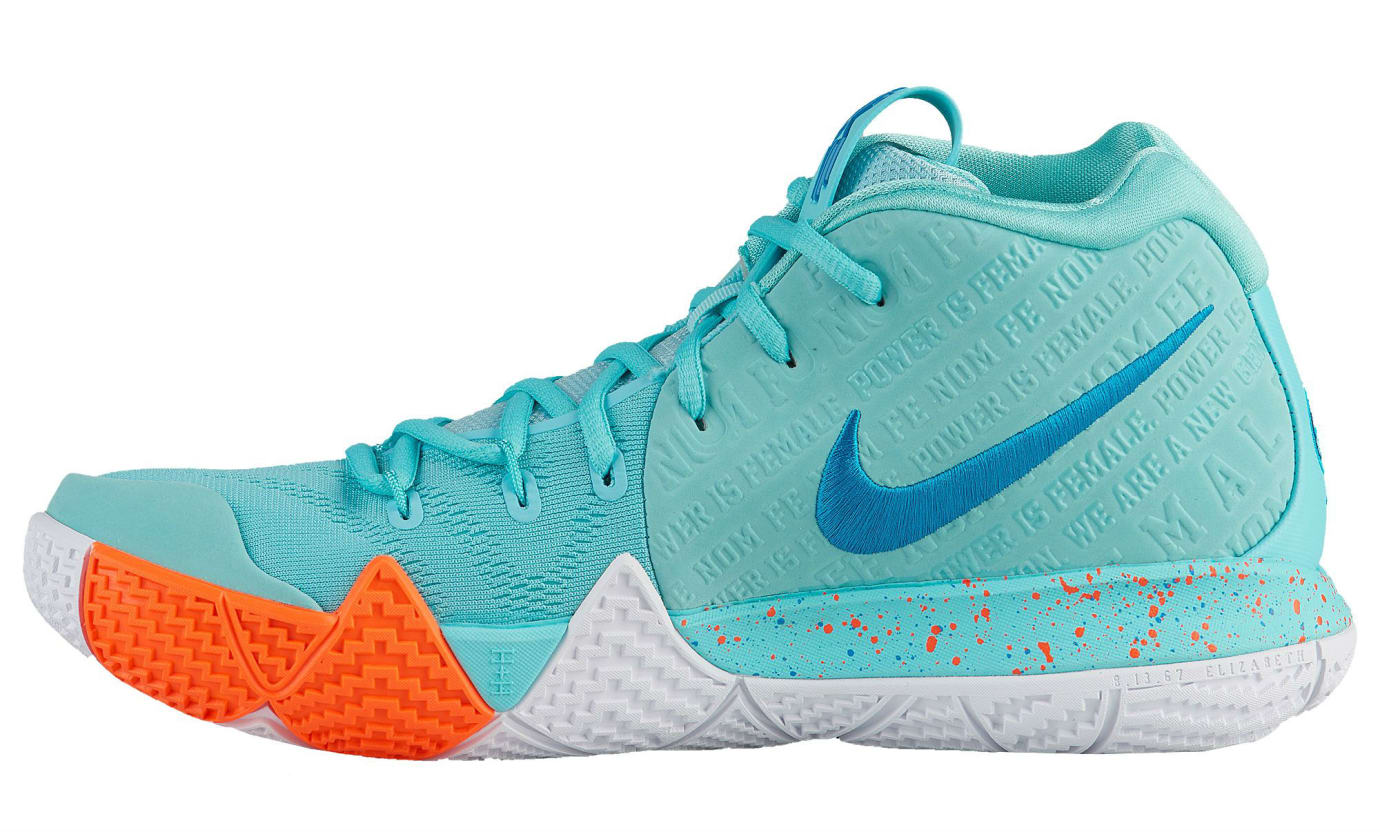 Nike Kyrie 4 Power Is Female Release Date 943806-402 Heel Medial