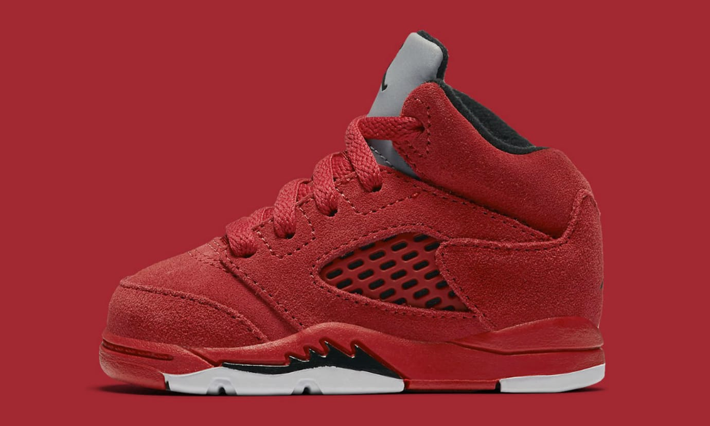 Air Jordan 5 Red Suede Toddler Release Date 440890-602
