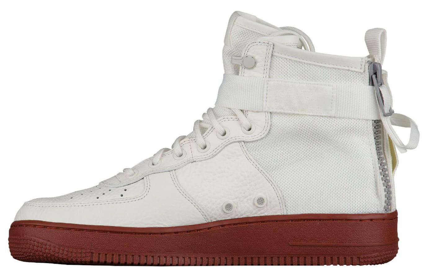 Nike SF Air Force 1 Mid Ivory Dark Red Release Date Medial 917753-100