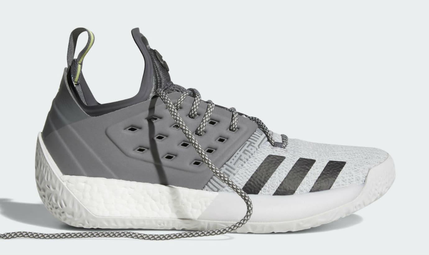 Adidas Harden Vol. 2 Concrete Grey Release Date AH2122 Laces