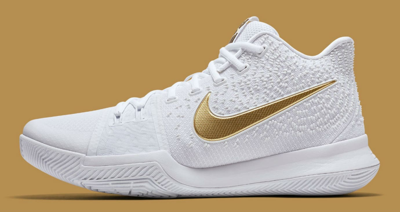 best website a8de7 12808 Nike Kyrie 3 White/Gold Christmas Release Date 852396-902 ...