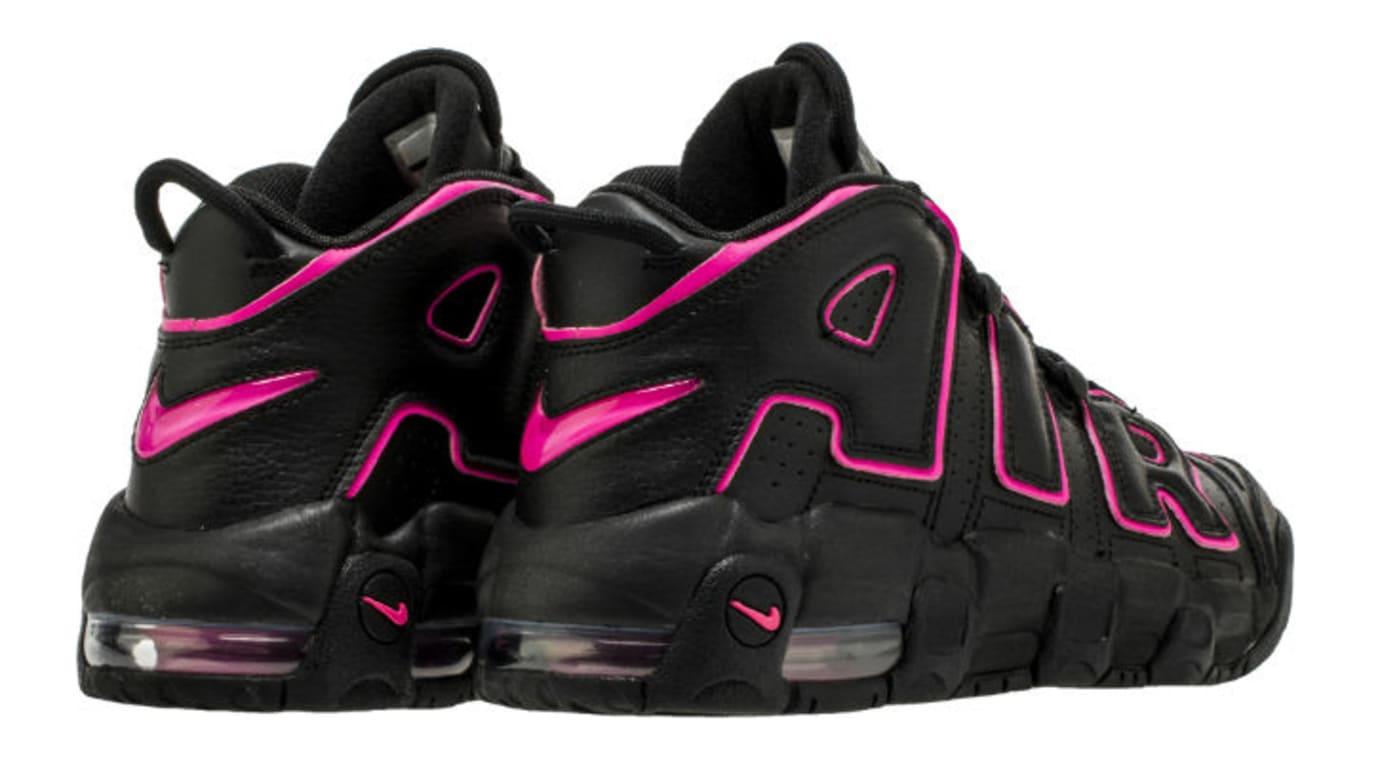 4062231de7e7e Image via Shoe Palace · Nike Air More Uptempo Black Pink 415082-003 Heel