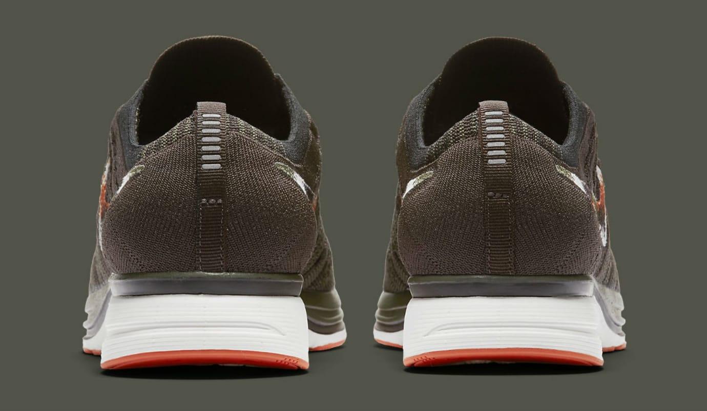 Nike Flyknit Trainer Dark Green Release Date AH8396-202 Heel
