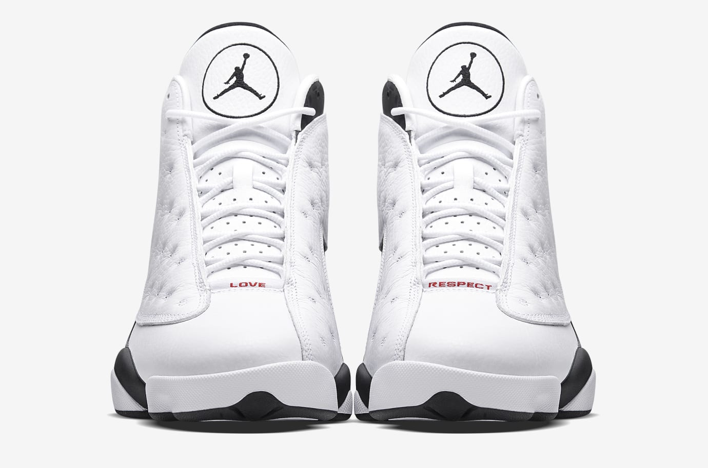 9fb09acebfc8 Image via Nike Air Jordan 13 Love Respect White Front