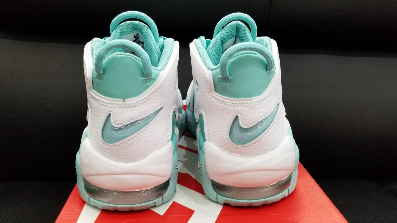 Nike Air More Uptempo GS Island Green Release Date Heel 415082-300