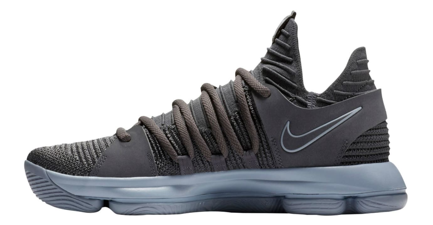 Nike KD 10 Dark Grey Release Date Medial 897815-005